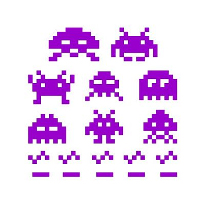 10-444 naklejka ścienna \'Space invaders\'
