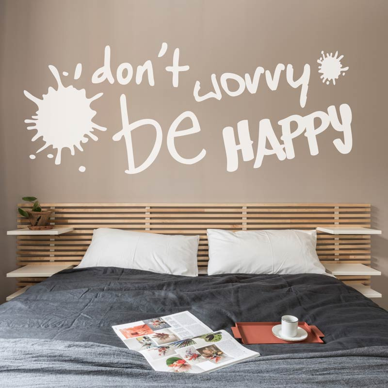 10-732  naklejka  DON\'T WORRY BE HAPPY